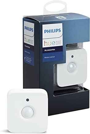 Philips Hue Smart Wireless Motion Sensor, Installation-Free, Exclusive for Philips Hue Lights (Compatible with Amazon Alexa, Apple HomeKit, and Google Assistant)
