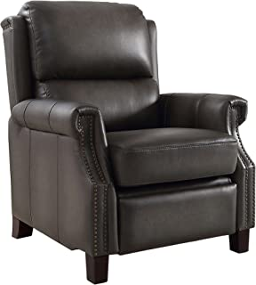 Hydeline Leather Recliner, Gray
