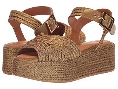Clergerie Aruba (Gold Braided) Women