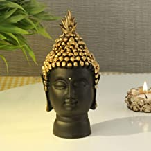 TIED RIBBONS Buddha Head Statue - Decorative Buddha Sculpture Showpiece for Home Living Room Table Decoration and Gifts (1...