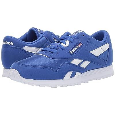 Reebok Kids Classic Nylon MU (Big Kid) (Cobalt/White) Kids Shoes