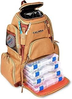 The X-Large 'Blackstar' Fishing Backpack, Tackle Box Storage Bag - Non-Corrosive Fishing Tackle Bag with (4X) 3650 Boxes -Fisherman Gifts for Men, Tackle Backpacks Tackle Box