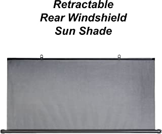Precision Works Retractable Rear Windshield Sun Shade - Black (Retractable)