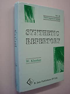 Synthetic Repertory: Psychic and General Symptoms of the Homoeopathic Materia Medica : Psychic Symptoms/3rd Improved Edition (English, French and German Edition)