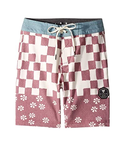 VISSLA Kids Variel Boardshorts (Big Kids) (Burgundy) Boy