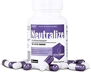 Neutralize Supports Alcohol Metabolism and Acetaldehyde Elimination / Feel Better The Next Day / 48 Capsules
