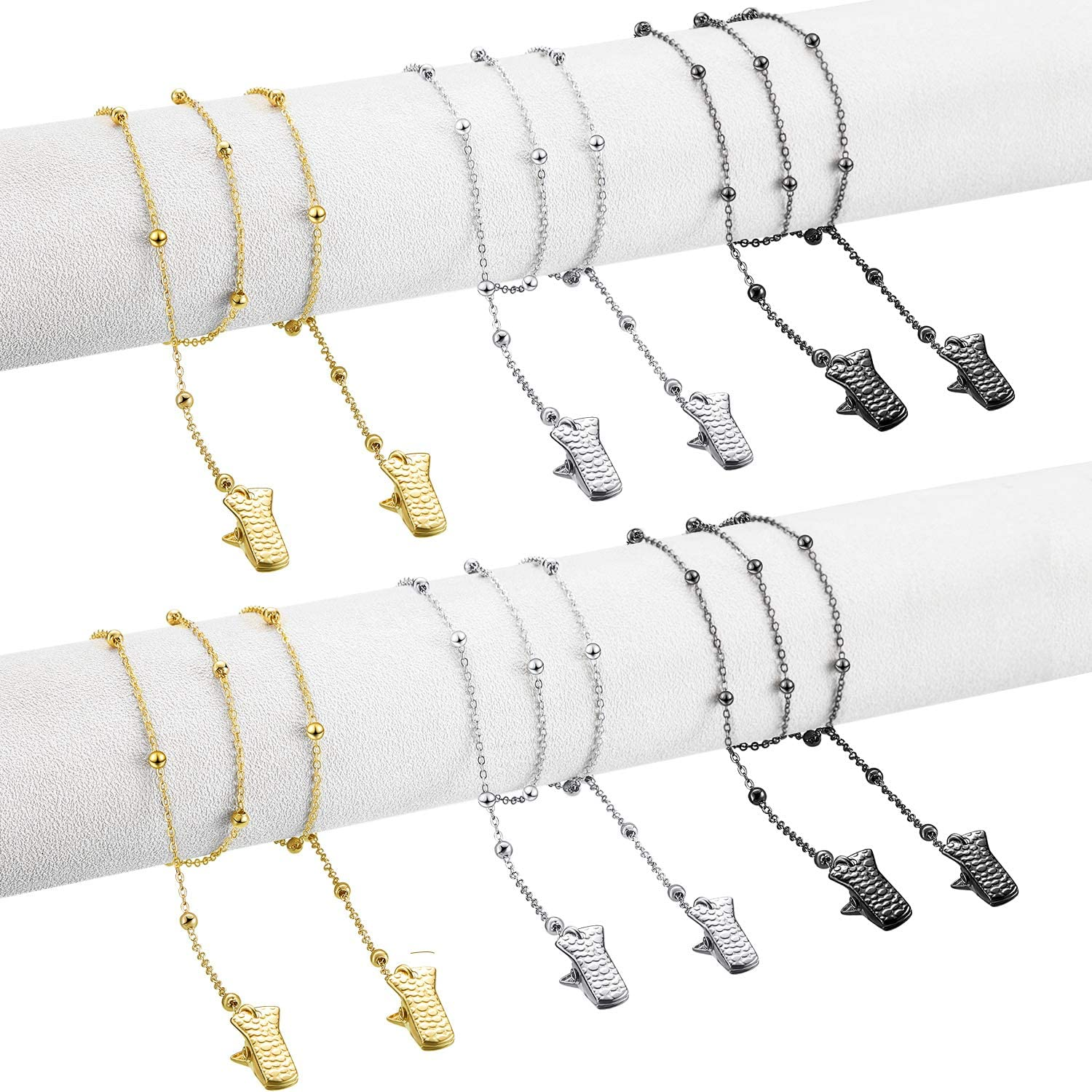 Face Cover Holder Chain Necklace Strap Metal Glasses Chain, 28 I