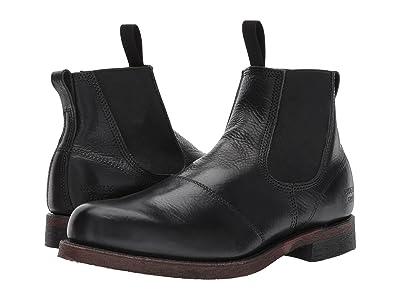 Frye Prison Yard Boot (Black Full Grain Pull Up) Men