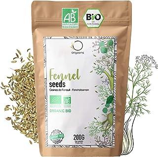 SEMILLAS DE HINOJO ECOLÓGICAS 200G | Te de hinojo para lactancia con bebé, digestiva | HINOJO INFUSION ecológica para té a...