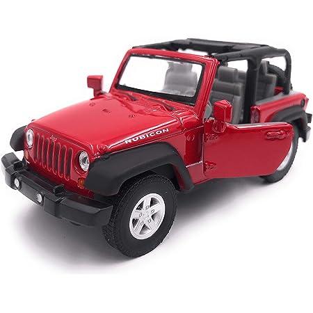 H Customs Jeep Wrangler Rubicon Modellauto Auto Lizenzprodukt 1 34 1 39 Rot Offen Auto