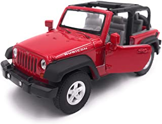 H Customs Jeep Wrangler Rubicon Modellauto Auto Lizenzprodukt 1:34 1:39 rot offen