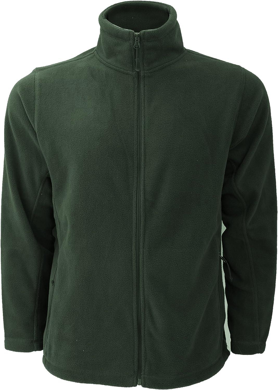 Russell Mens Full Zip Outdoor Fleece Jacket (S) (Bottle Green)