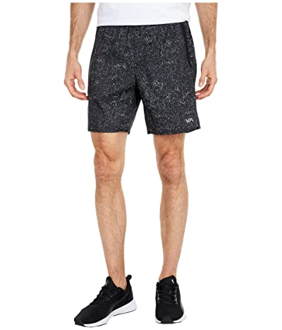 RVCA Yogger IV Shorts (Black Speckeled) Men