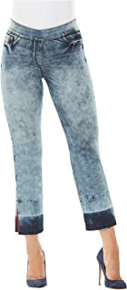5513730bf212f LUXE DENIM SLIMS Straight Crop with Release Hem LtIndigoCloud M