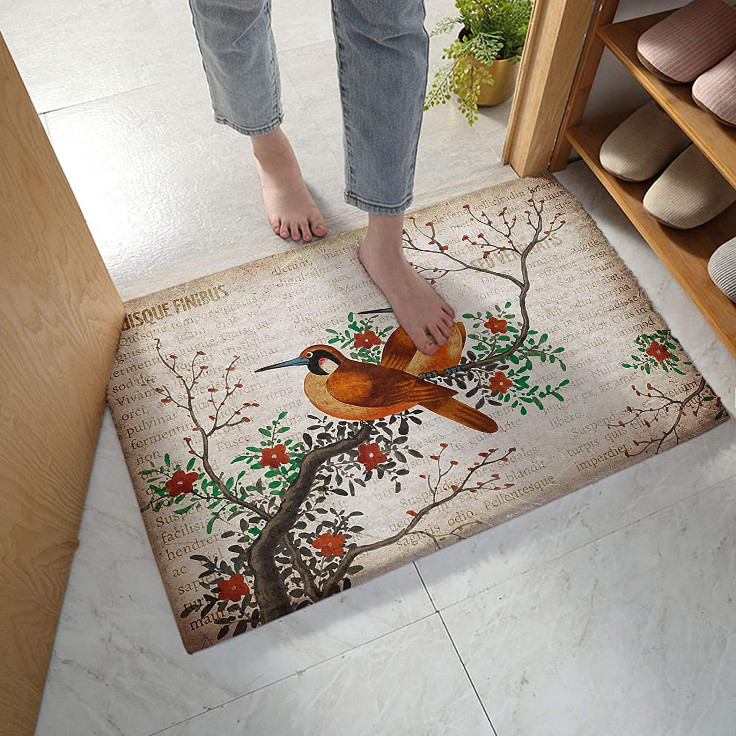 LBHAUSE Bathroom Rugs Soft Plush Flower Bath Chinese Style Mat Max 53% OFF Quantity limited