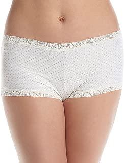 Women's Microfiber with Lace Boyshort Panty
