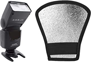 COOPIC CF550 flash with silver/white diffuser softbox reflector for all Nikon and Canon DSLR cameras