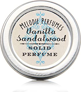 Melodie Perfumes Vanilla Sandalwood solid perfume. Vegan, with natural vanilla.50 tin