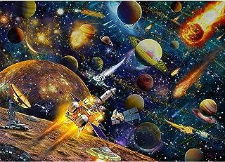 HUADADA Puzzle de 1000 pièces Star Wars 1000 pièces - Défi - Puzzle de 1000 pièces - Puzzle de 1000 pièces - Le système so...