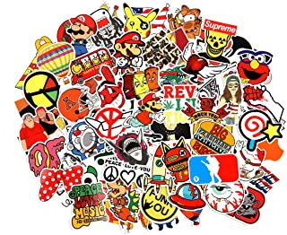 8 Series Stickers 100 pcs/Pack Stickers Variety Vinyl Car Sticker Motorcycle Bicycle Luggage Decal Graffiti Patches Skateboard Stickers for Laptop Stickers for Kid and Adult (Series E)