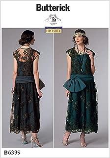 Butterick B6399 Women's 1920's Vintage Fashion Flapper Dress Sewing Pattern, Sizes 6-14