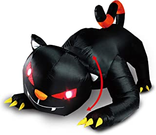 Joiedomi Halloween Blow Up Inflatable Animated Red Eye Witch's Cat - 6 ft Long