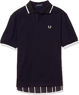 [フレッドペリー] ポロシャツ PANELLED POLO SHIRT F1822 メンズ 01_NAVY UK S (日本サイズM相当)