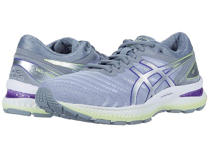 ASICS  GEL-Nimbus 22 (White/Pure Silver) Womens Running Shoes