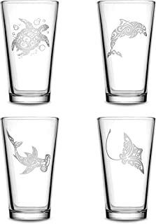 animal etched glassware