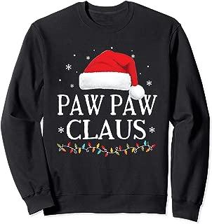 Paw Paw Claus Christmas Family Matching Pajama Santa Hat Sweatshirt