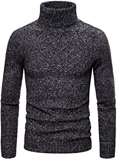 Men's Knitted Jumpers Basic Turtleneck Solid Color Sweater Elegant Soft Light Breathable Sweater Men's Fine Knit Warm Lon...
