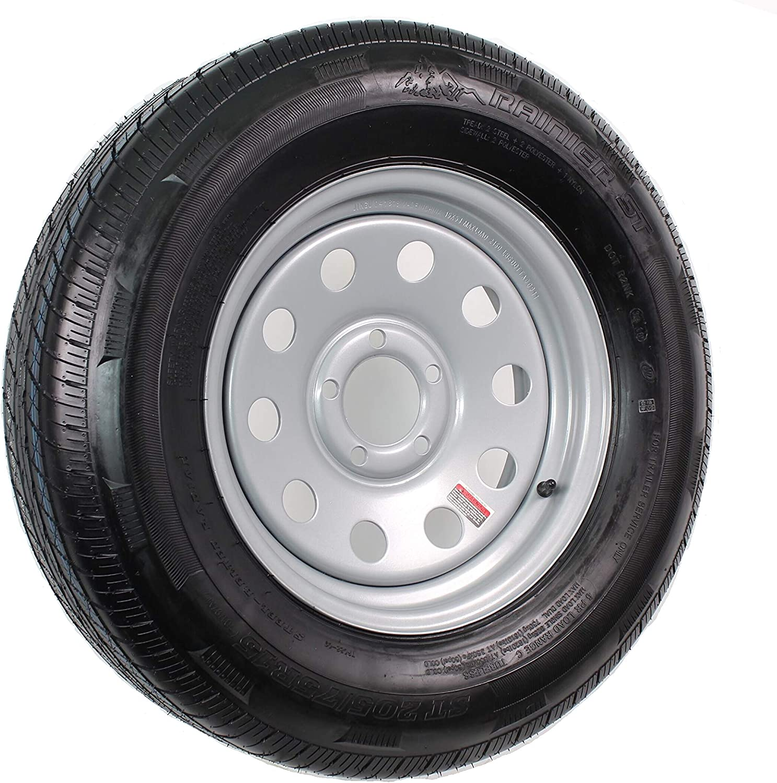 Ranking TOP17 Radial Trailer Tire On Rim ST205 Brand new 75R15 Load 5 Modul C Lug Silver