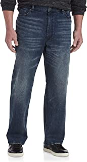 True Nation by DXL Big and Tall Relaxed Fit Stretch Jeans, Blue