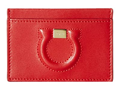 Salvatore Ferragamo Gancio City Card Case 22D664 (Lipstick) Wallet