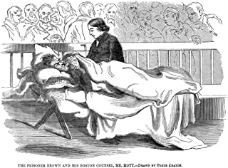 John Brown (1800-1859) Namerican Abolitionist A Wounded John Brown On A Cot In Court During His Trial For Murder And Treas...
