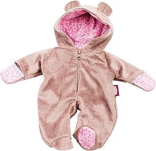 Götz 3402668 Onesie Teddy - Einteiliger Overall Puppenbekleidung Gr. S - 1-teiliges Bekleidungs- und Zubehörset für Babypuppen von 30 - 33 cm