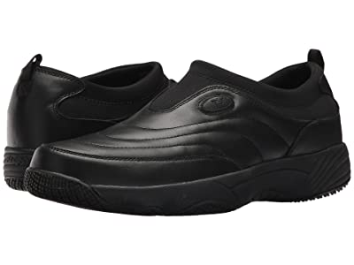 Propet Wash Wear Slip-on (Black Leather) Men