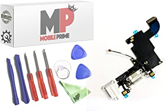 MobilePrime White Charging Port Replacement Kit Compatible for iPhone 6S (A1633, A1688, A1700) Including Repair Tools
