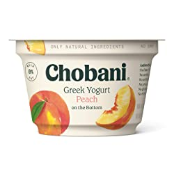 Chobani Non-Fat Greek Yogurt, Peach on the Bottom 5.3oz