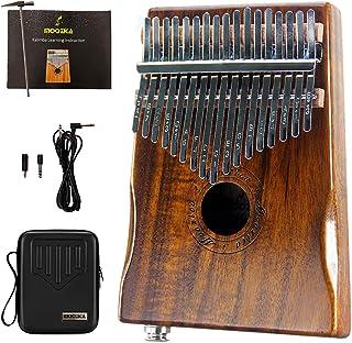 Moozica 17-Key EQ Kalimba, Electric Finger Thumb Piano Built