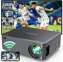 WISELAZER Projector 4K 5G WiFi Bluetooth HD Cinema Video Projector Native 1080P, Built-in Dust Filter/Mirroring/4-Point Ke...