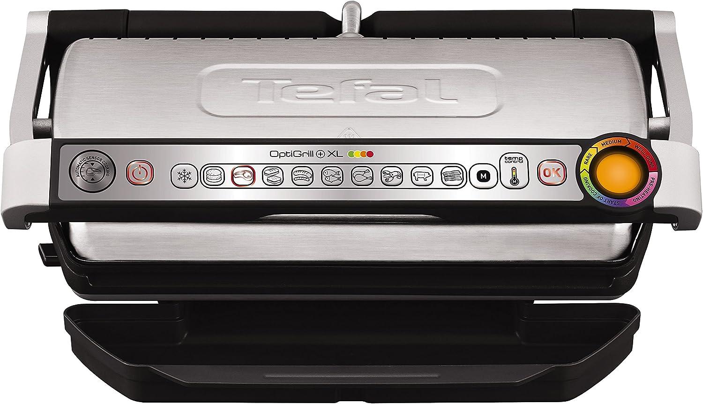 nuevo estilo Tefal Optigrill Optigrill Optigrill + XL Parrilla Eléctrica, 2000 W, Acero Inoxidable Termoplástico, gris Negro  caliente