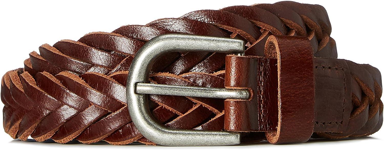 find. Men's Belt in Leather Plait Weave