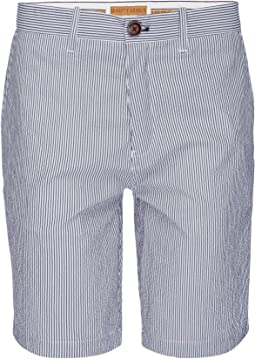 Morgan Bermuda Stretch Shorts in Stripe Seersucker