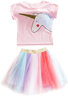 1c644605d DJSJ- Unicornio Disfraz Niña Vestido de Cosplay Traje Princesa Tutu Falda  para Fiesta Cumpleaños Ceremonia