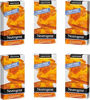 Neutrogena Transparent Facial Bar Unscented Pack, 3 Count (Pack of 6)