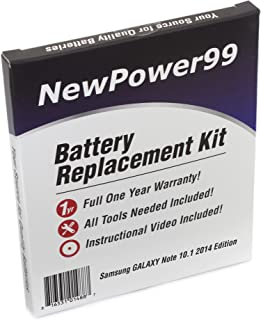 NewPower99 Battery Kit with Battery, Video and Tools for Samsung Galaxy Note 10.1 2014 Edition SM-P600, SM-P601, SM-P605, SM-P607, SM-P6000