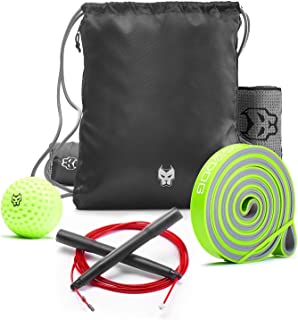 KONUNGR Workout Set for Home Fitness on Quarantine - Pull Up Band - Massage Ball - Sport Towel - Jump Rope - Stay at Home...