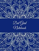 """Dot Grid Notebook: Classic Blue Mandala, 8.5"""" X 11"""" Dot Grid Sketchbook Journal, Daily Notebook to Write In, Dotted Journal"""