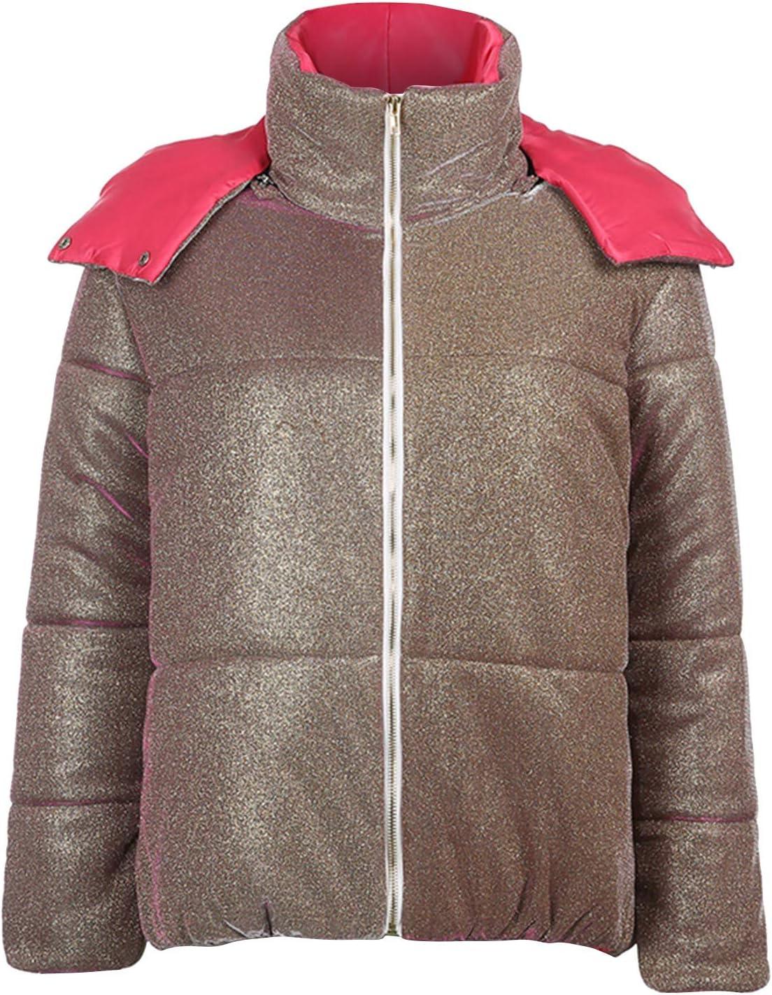 Smileyth Women's San Antonio Mall Short cheap Thickened Coat Zipper and Autumn Winter H